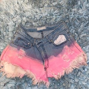 BABY BLUE /PINK MINI SHORTS